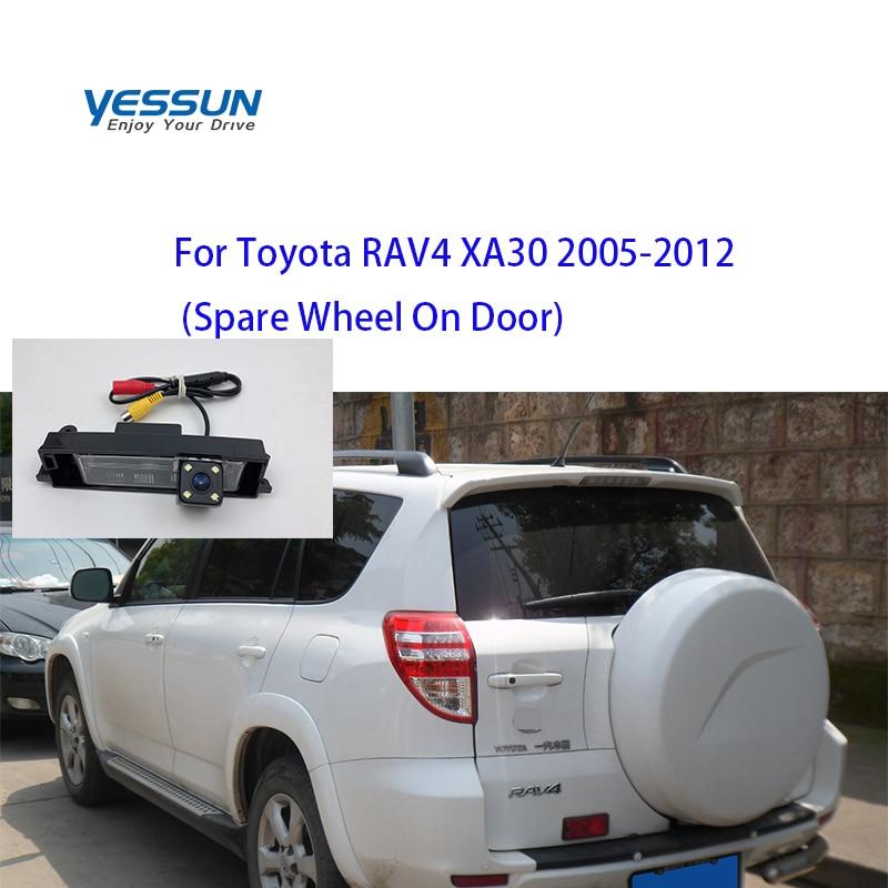 Yessun cámara trasera para Toyota RAV4 XA30 2003, 2004, 2005, 2006, 2007, 2008 ~ 2012 RAV 4 2008 cámara de visión trasera