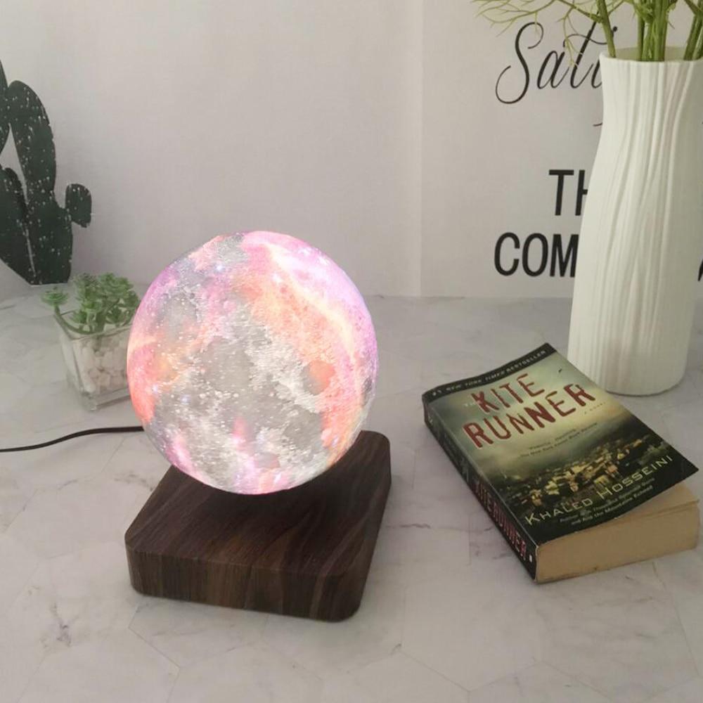 3D Magnetic Levitation Creative LED Night Light Rotating Floating Table Desk Lamp For Home Decoration Holiday DIY Fashion Gift enlarge