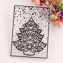 Christmas tree DIY Plastic Embossing Folders for DIY Scrapbooking Paper Craft/Card Making Decoration Supplies