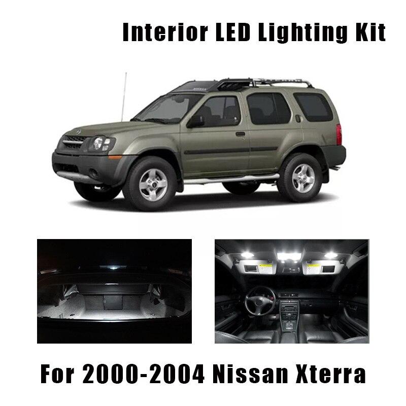 8 Bulbs White Car LED Interior Map Ceiling Light Kit Fit For Nissan Xterra 2000 2001 2002 2003 2004 Dome License Plate Lamp