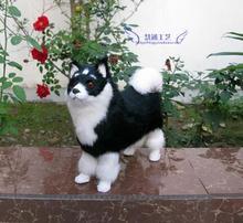 Imitatie Dier Gift Decoratie Tafelblad Decoratie Imitatie Husky Alaska Slee Hond Zwarte Sleighstatue Sculptuur