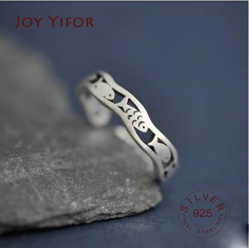 bijoux-украшения-своими-руками-925-Серебряные-кольца-с-рыбками-для-женщин-рождественские-подарки-Регулируемый-Открытое-кольцо-Дамы-boho-ювелирн