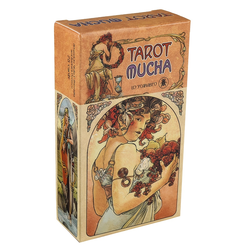 Tarot Mucha Cards by Lo Scarabeo E-Guidebook Tarot Game Toy Tarot Divination Card Game Board недорого