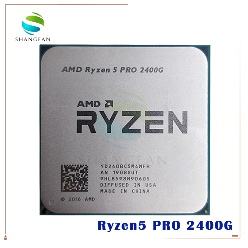 Amd ryzen 5 pro 2400g-r5 pro 2400g 3.6 ghz quad-core oito-thread 65w processador cpu yd240bc5m4mfb soquete am4