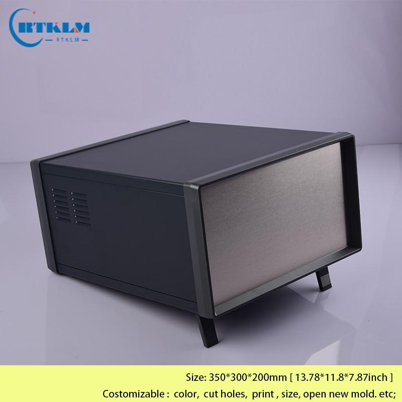 لتقوم بها بنفسك علبة توزيع إلكترونيات صندوق وصلات الحديد مرفقات الحديد للمعدات الإلكترونية أداة معدنية صندوق كبير الضميمة 350*300*200 مللي متر