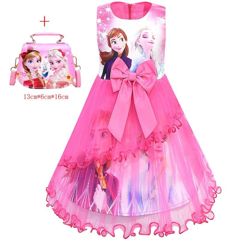 Elsa Dresses For Girls Easter Unicorn Costume Princess Dress 2Pcs Kids Baby Girls Birthday Party Vestidos Clothing 3 5 8 11 Year