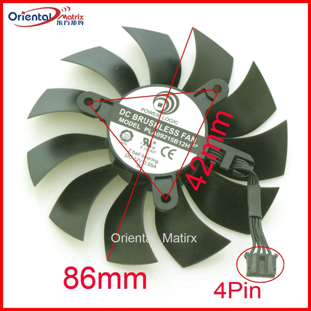 Envío Gratis PLA09215B12H 12V 0.55A 86mm 4Pin para EVGA GTX1060 tarjeta gráfica VGA ventilador refrigerador