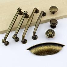 Antyczne szafa uchwyt szuflady uchwyt drzwi meble Retro uchwyt drzwiczek szafki stary brąz