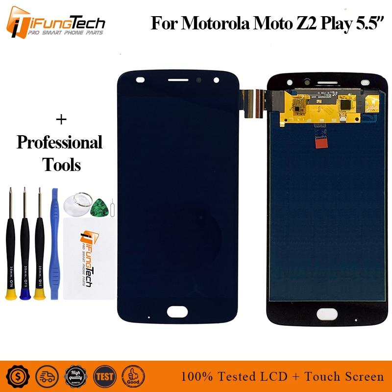 Para Motorola Moto Z2 Play XT1710-01/07/08/10 5,5 pulgadas pantalla LCD AMOLED Digitalizador de pantalla táctil 1920*1080 montaje con herramientas
