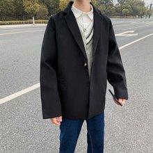 Costume décontracté hommes grande taille Blazer manteau lâche kaki Blazer hommes japonais costume veste Homme Blazer mâle costume vestes décontracté KK50XX