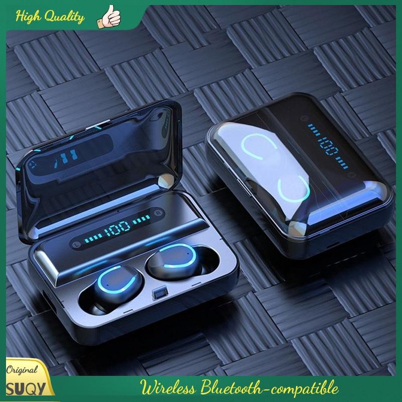 Tecnologia display digital fones de ouvido bluetooth-compatível in-ear fone de ouvido sem fio fone de ouvido esporte fone de ouvido sem fio e com bluetooth