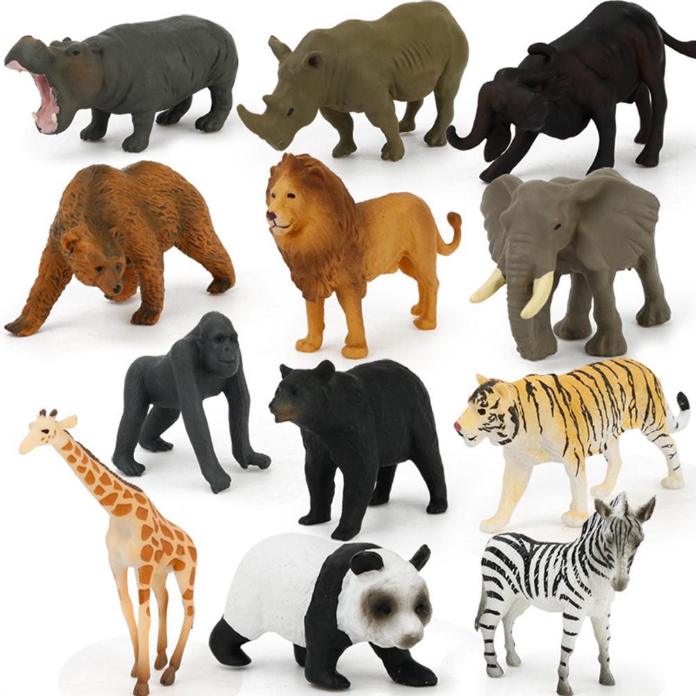 Original zoológico salvaje granja sabana africana León rey Animal pájaro serie gato Leopardo de La pantera Jaguar modelo juguetes de regalo de los niños