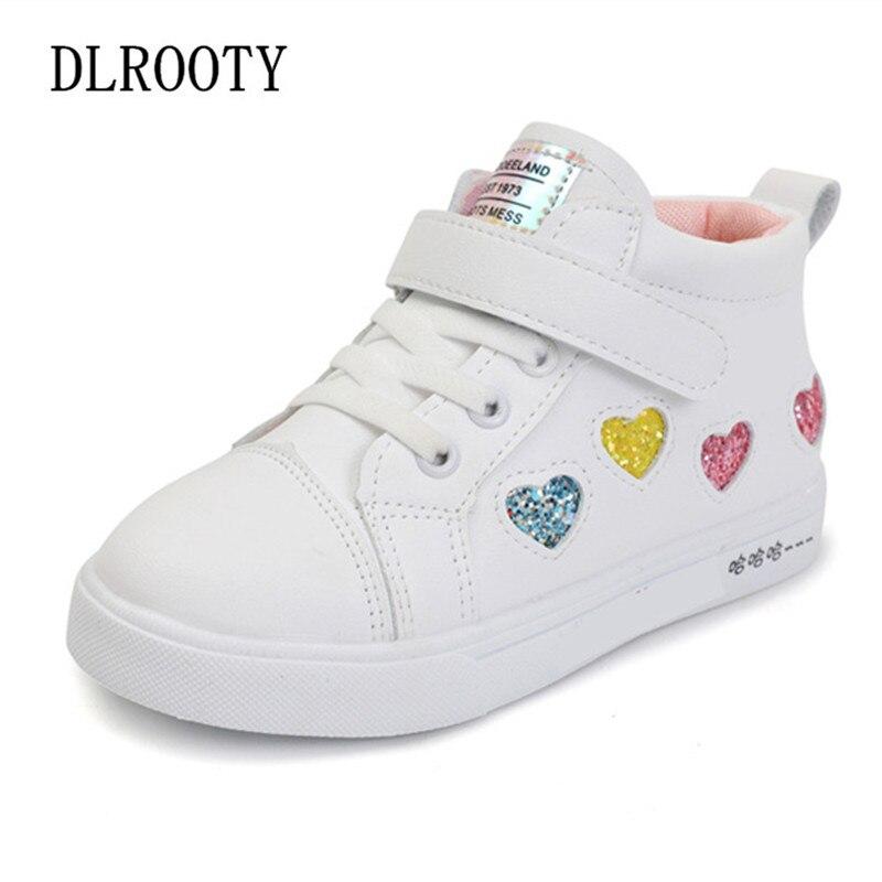 ¡Novedad! Zapatos deportivos para niños, zapatillas de deporte para niñas, bonitas zapatillas de deporte casuales de malla para primavera y otoño, zapatillas planas con gancho y bucle para correr