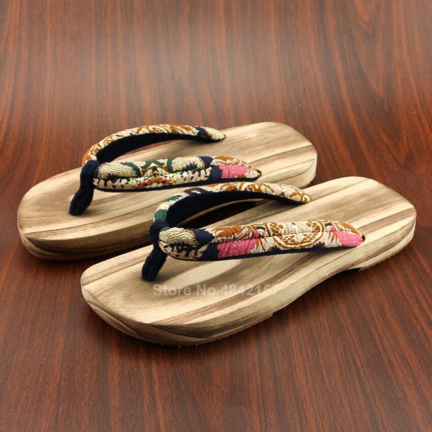 Zapatos de Samurai japonés de Paulownia hechos a mano Geta para hombres mujeres Kimono Naruto Cosplay sandalias de madera chanclas Fllip Flops