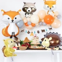 woodland balloon set for birthday party baby shower jungle wild one year birthday party decor kids jungle animal party supplies