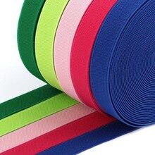 Ruban de bricolage Durable multicolore   15mm/20mm/25mm, accessoires de couture à haute élasticité épaisseur 1.5mm pour chaussures, 13 couleurs