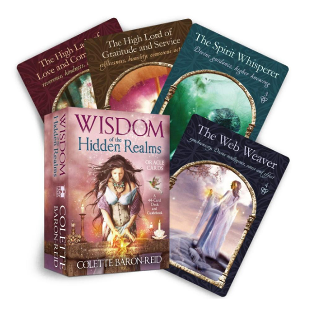 44 Hidden Realms Oracle Cards Tarot Cards Board Game Cards Deck Table Games Entertainment For Party English Playing Tarot Card