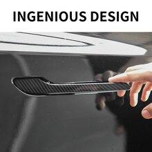4Pcs For Tesla Model 3/Y 2017-2021 Car Door Handle Cover Wrap Kit Protector Sticker Decal Premium Du