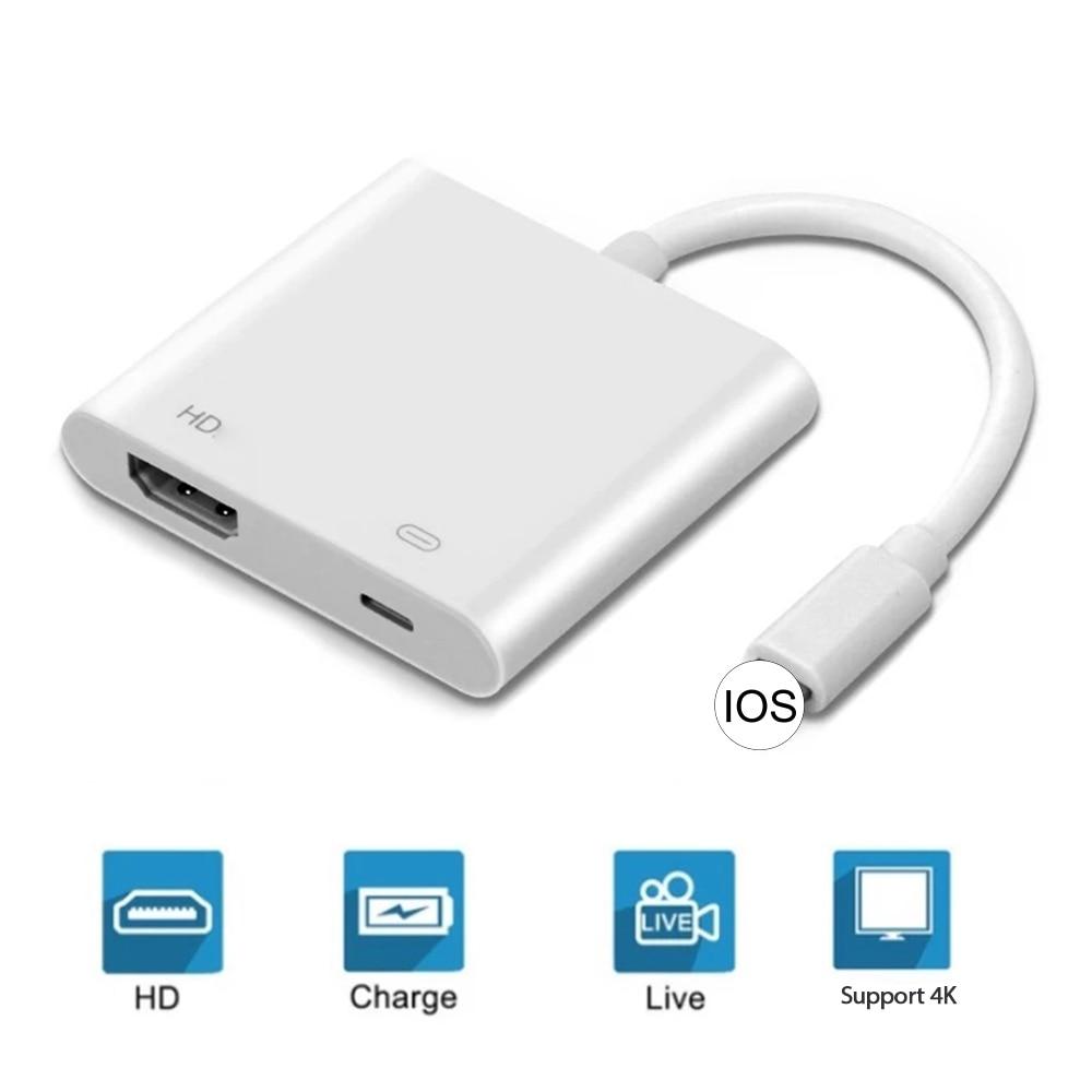 Adaptador para iPhone 12 Pro Max Mini X XS X ipad TV...