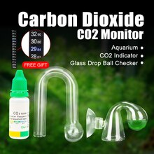 Aquarium CO2 Monitor Liquid Test Fish Tank Solution Plants For CO2 Indicator drop checker PH Long Term Monitor CO2 Tester