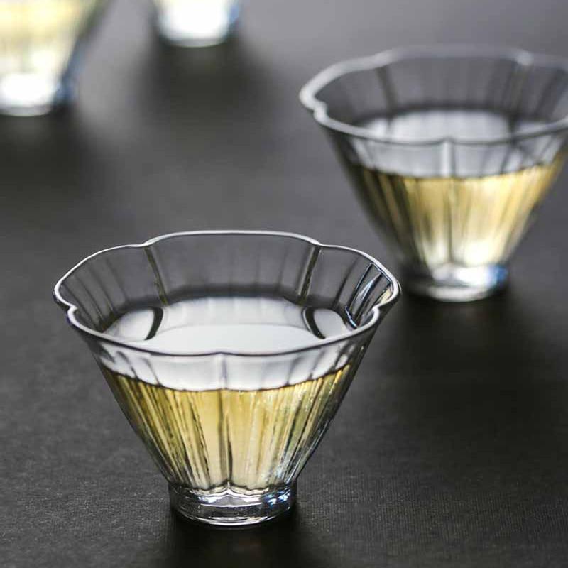 زجاج إبداعي فنجان شاي اليابانية المنزل الحد الأدنى مقاومة للحرارة أكواب شاي زجاجية فنجان شاي s مجموعة اليدوية الرجعية Juego دي تي teبينة DA60CB