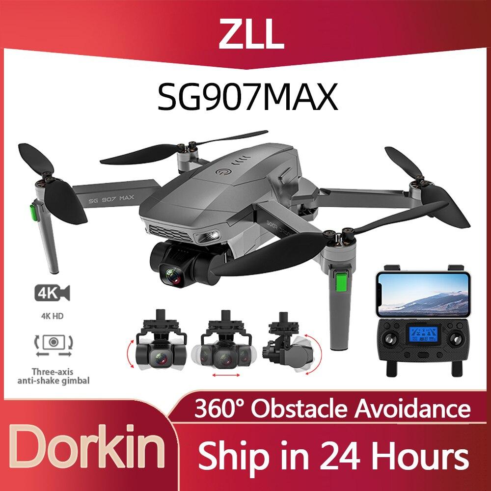 الأصلي ZLL SG907 ماكس لتحديد المواقع بدون طيار 4K كاميرا 5G FPV واي فاي مع 3-محور Gimbal ESC 25 دقيقة الطيران فرش أجهزة الاستقبال عن بعد بدون طيار