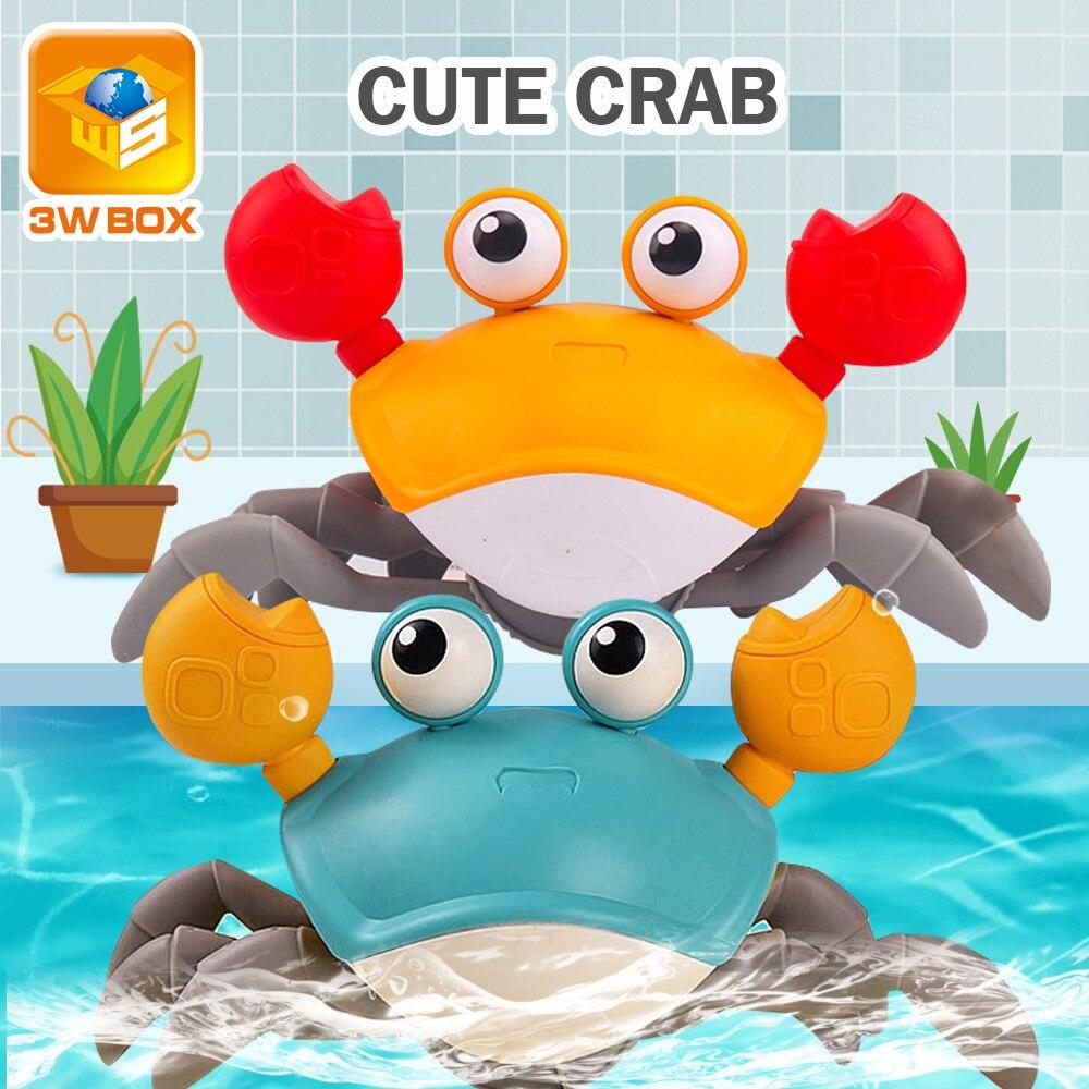 3WBOX Baby Bath Toys simulation big crab Clockwork toy leash beach toys Swimming Pool Bathtub Play Water Learning Walking Game