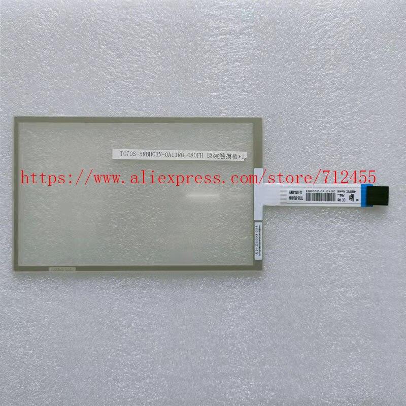 T070S-5RBH03N-0A11R0-080FH جديد الأصلي A + 5 بوصة محول رقمي يعمل باللمس/لوحة اللمس