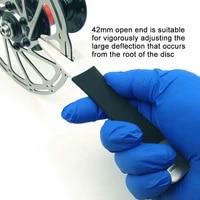 mtb bike bicycle disc brake rotor alignment truing tools stainless brake pad disc brake correction wrench correction tool