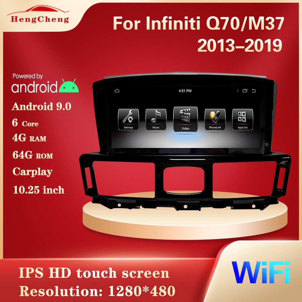 For Infiniti Q70/M37 2013-2019 car smart multimedia video player GPS navigation radio PX6 Android 9.0