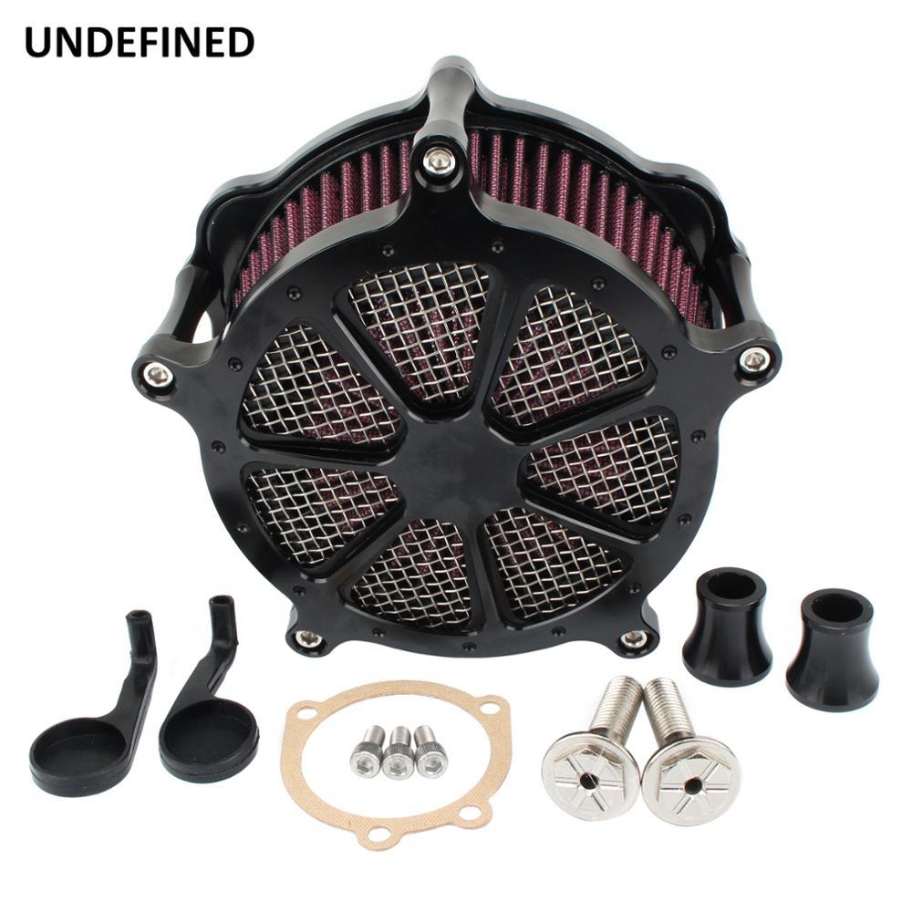 Kit de sistema de filtro de aire de admisión CNC para motocicleta Harley Sportster Iron XL 883 1200 48 72 Fourty-Eight Superlow Black