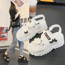 Sandals female summer wear 2020 new wild velcro sponge cake thick bottom sandals fashion casual beach shoes Z807