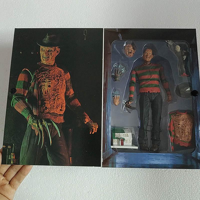 18cm NECA A Nightmare On Elm Street Freddy Krueger Freddys Nightmares PVC Action Figure  Model Toys Doll Gift