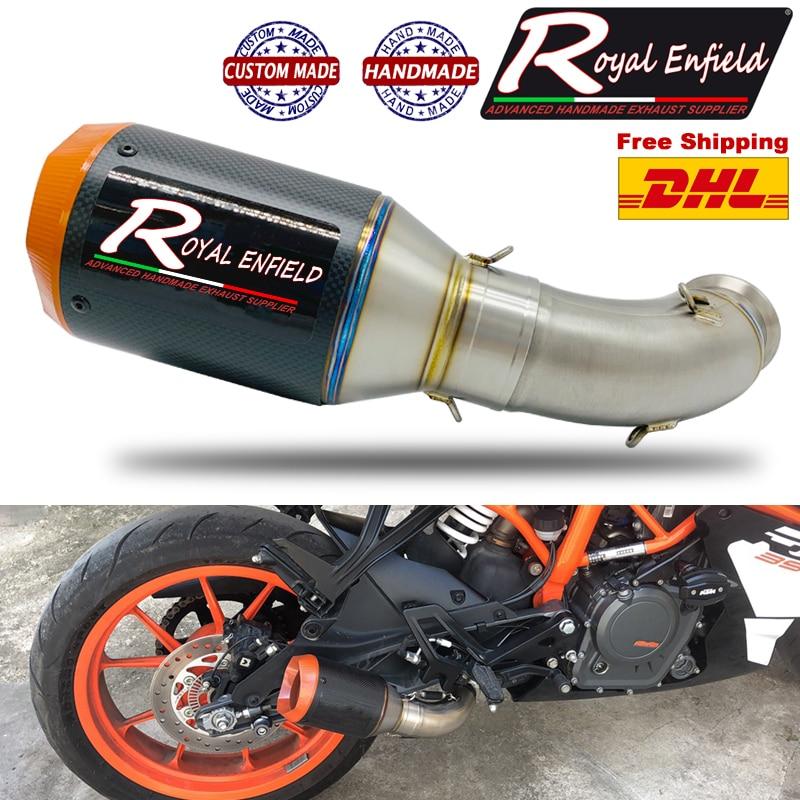 KTM Duke RC-كاتم صوت Exhuast من سبائك التيتانيوم ، غطاء برتقالي ، مضاد للانزلاق ، غطاء ، صناعة يدوية ، KTM Duke RC 390 2017 2018