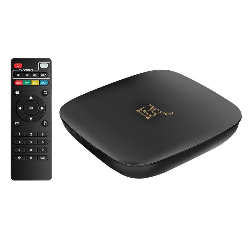D9 Android 10.0 Fast Smart TV BOX 100Mbps 2.4G/5G Dual WiFi RJ45 Ethernet 4K Set-Top TV Box Quad Cor