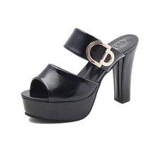 Women Sandals Fashion New Summer Women 11cm Platform Peep-Toe Shoes Woman High-Heeled Casual Slipper