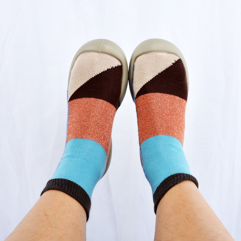Детская обувь, носки, детские Нескользящие носки с мягкой подошвой, хлопковые носки для дома, обувь для первых шагов, детская обувь для крова...