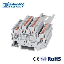 Bornier à Rail Din PTTB-2.5 connecteurs de câblage électrique Double couche conducteurs de connexion à ressort 10 pièces borniers