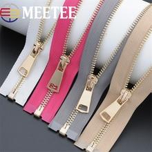 2pcs Meetee 85cm Metal Zipper Open End Zip Closure DIY Sewing Down Jacket Over Coat Garment Repair Tailor Tools Accessories A3-6