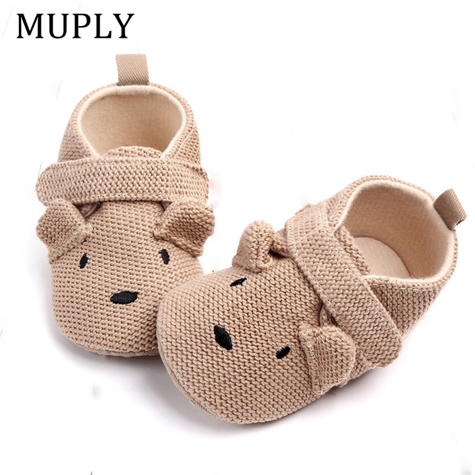 2021 New Arrival Toddler Newborn Baby Boys Girls Animal Crib Shoes Infant Cartoon Soft Sole Non-slip Cute Warm Animal Baby Shoes