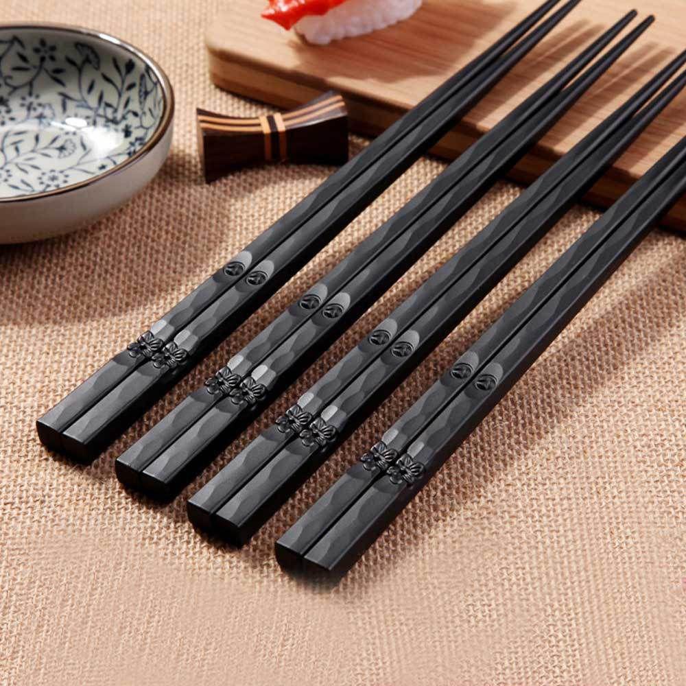 Palillos japoneses para tallar flores de cerezo, palitos antideslizantes de aleación, regalo chino palillos chinos reutilizables, 1 par