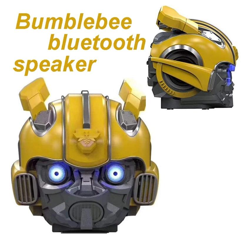 Bumblebee-خوذة روبوت بلوتوث ، مكبر صوت لاسلكي ، ستيريو ، راديو FM ، Mp3 ، بطاقة TF ، مضخم صوت ، إضاءة العين