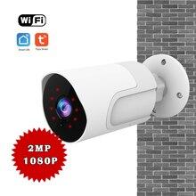 1080P sans fil WiFi caméra sécurité à domicile caméra extérieure Vision nocturne deux voies Audio détecteur de mouvement travail Tuya vie intelligente