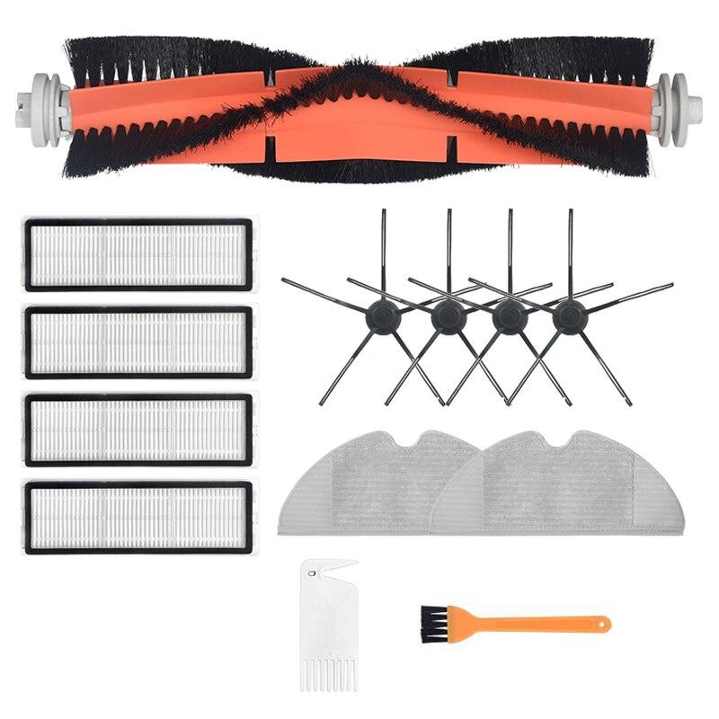 ملحقات مكنسة كهربائية قابلة للغسل لـ شاومي دريمي F9 أو 1C روبوت مكنسة كهربائية من القماش مجموعة فلتر Hepa بفرشاة جانبية دوارة