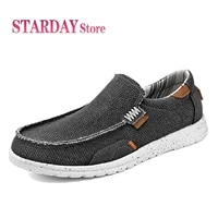 new mens shoes summer canvas shoes breathable loafers mens vulcanized shoes comfortable outdoor walking casual sneakers 39 47