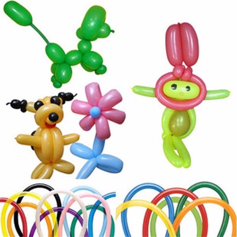 """100 pces 12 """"misture cores 260q balões mágicos para festa de casamento presente de aniversário mágico balão animal longo promoção torção látex"""
