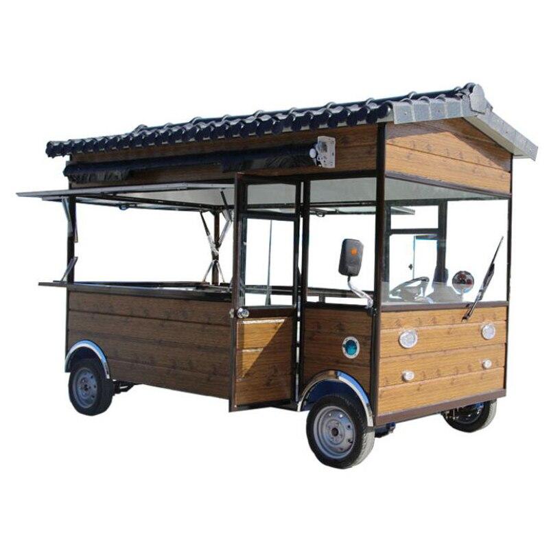 Carrito de venta ambulante de comida/carrito de comida, camión eléctrico móvil para venta