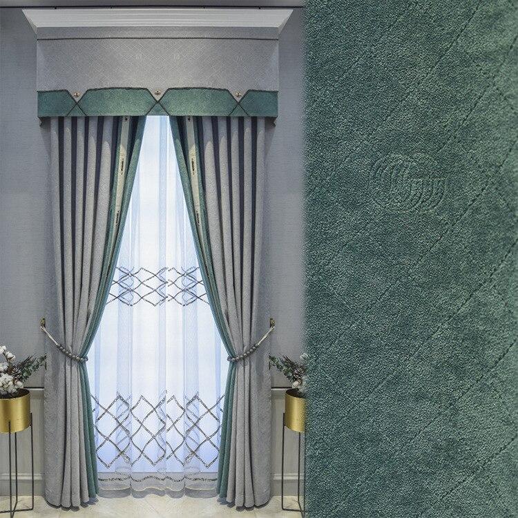 ستائر شينيل جاكار حديثة على الطراز الأوروبي الشمالي ، لغرفة المعيشة وغرفة النوم ، فاخرة
