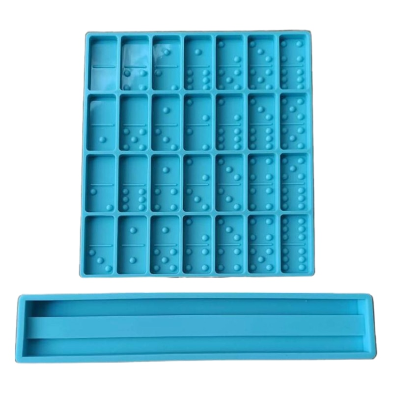 1 Set Epoxy Resin Game Toy Mold Dominoes Casting Silicone Mould DIY Crafts Polymer Clay Jewelry Making Tools