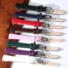 Quality Watch Accessories Belt Women Girls Watchbands Genuine Leather Strap Watch Band 8mm 10mm 12mm
